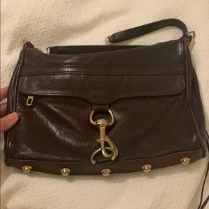Rebecca Minkoff Morning After Clutch Brown/Gold